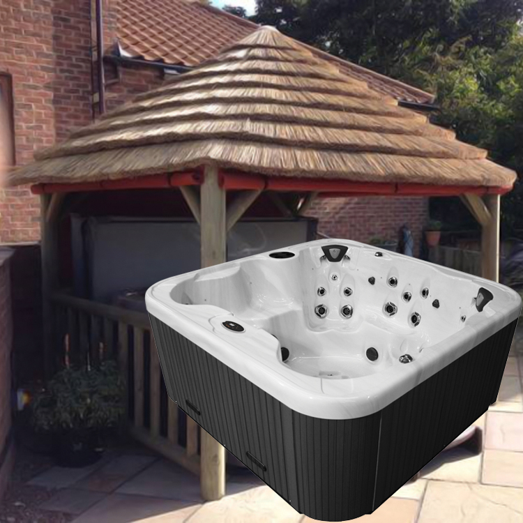 4.2M THATCH GAZEBO + REGENCY KING HOT TUB