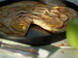 Apple & Cinnamon Sugar Tarte Flambee Sucree