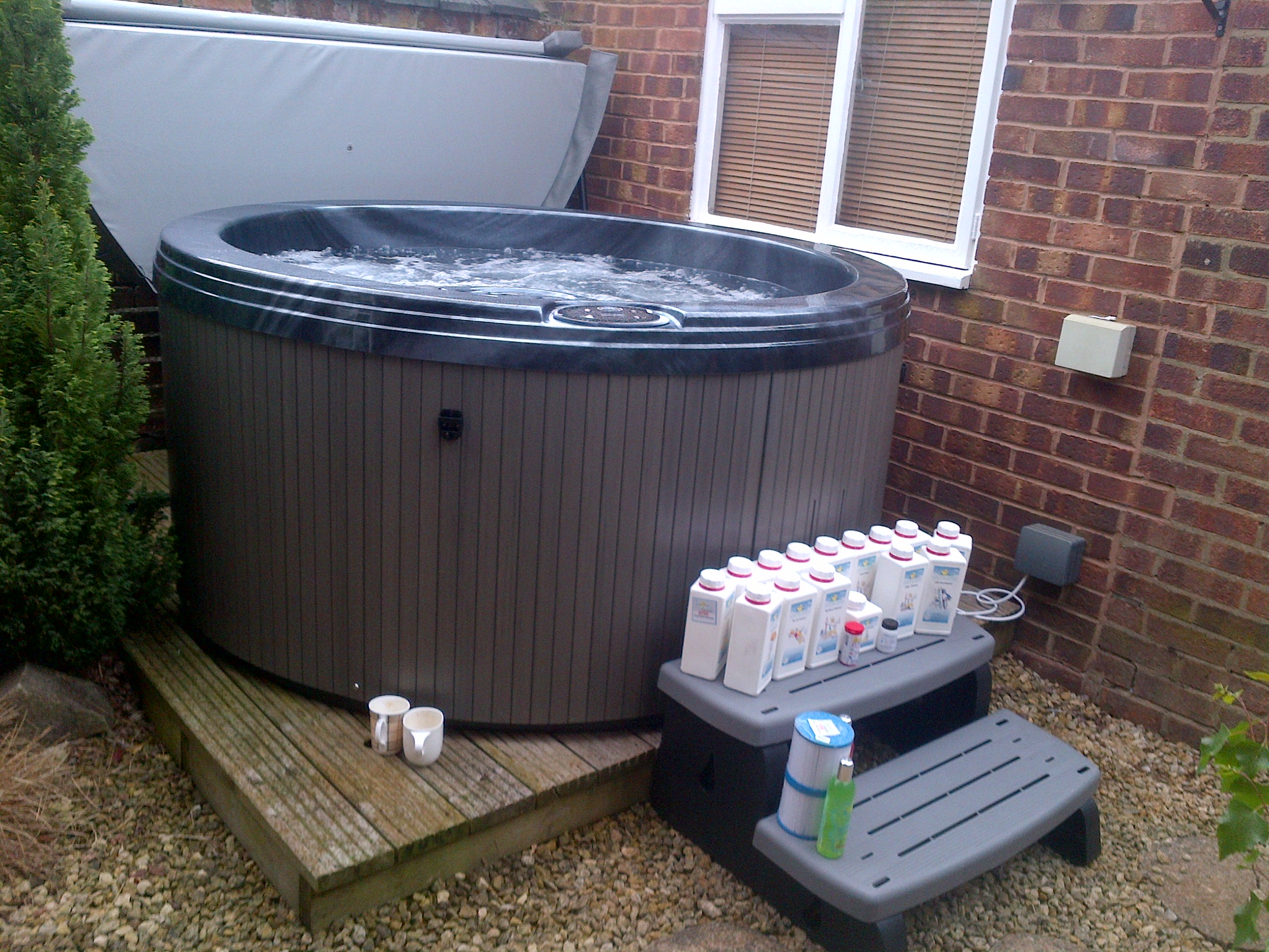 heater barrel tub hot hottub external